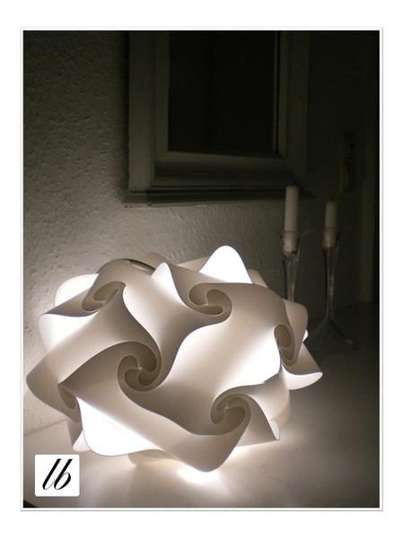 Puzzle Lampe Xxl 47cm Set Sideboard Light Blue