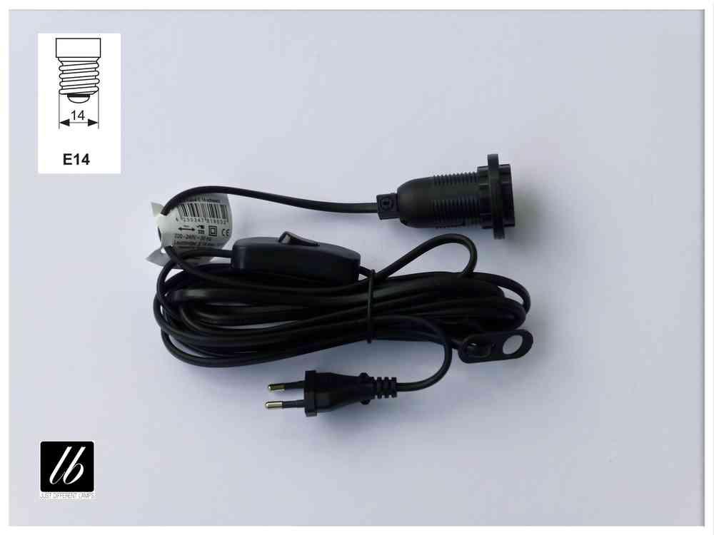 Kabel mit Schalter und Fassung Elektrik Kabel mit 2x E14 Fassungen