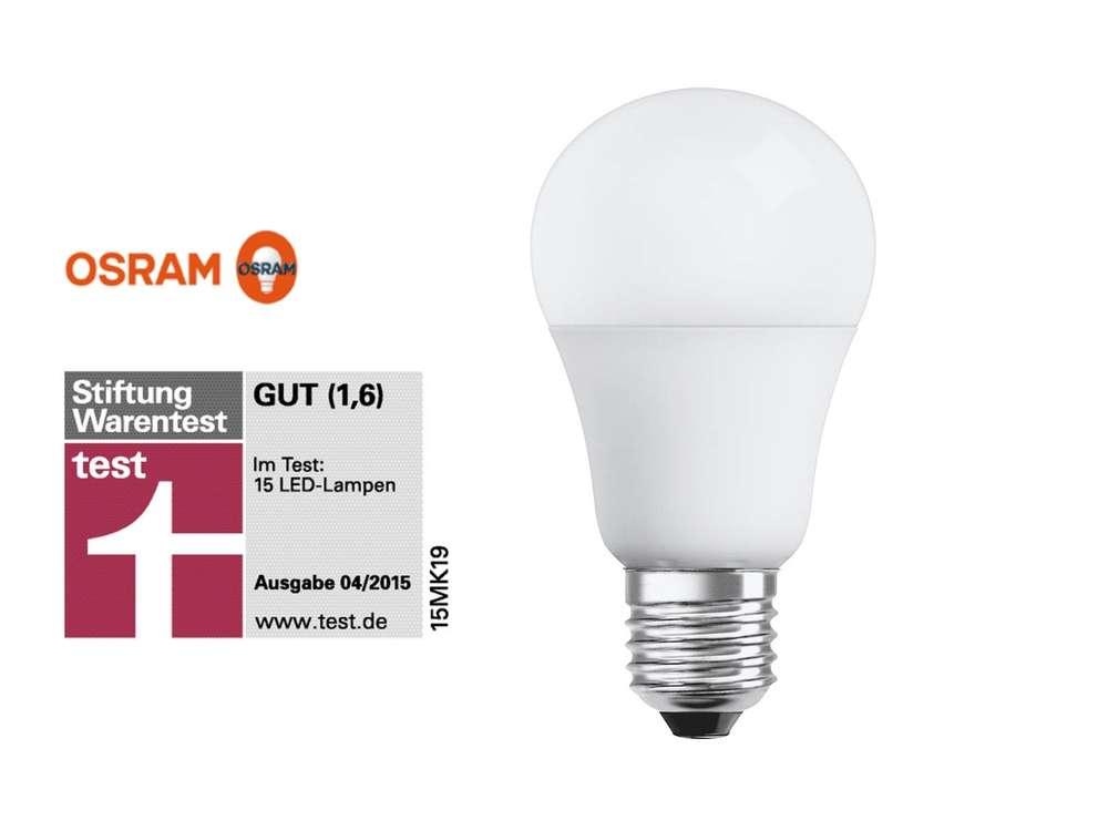 OSRAM LED 8W = 60W warmweiß, E27, nicht dimmbar - light blue